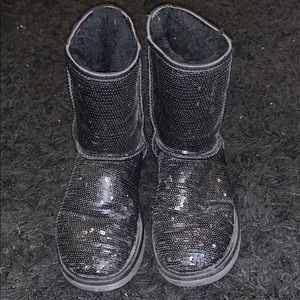 Black Sparkly UGG Boots